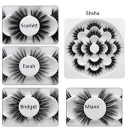 $enCountryForm.capitalKeyWord Australia - 7 Pairs Lotus Plate Natural False Eyelashes Fake Long Makeup 3D Design Lashes Extension Mink Eyelashes For Soft Beauty Eyelashes