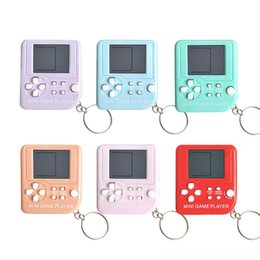 boys puzzles UK - Imcute 2020 COOL mini Game Toy Keychain Portable Mini Tetris Game Console Keychain LCD Toy Backpack Decor Childs Boys Card Games Puzzles & G