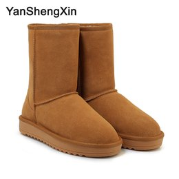 $enCountryForm.capitalKeyWord Australia - Wholesale Shoes Woman Boots Classic Cowskin Snow Boots Warm Wool Blended 3 Color High Quality Fur Women Shoes Winter Boots Ladies Booties