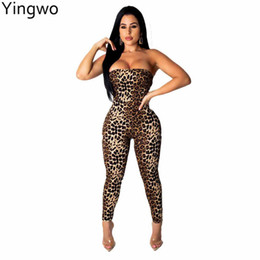 0c7ce90016 New Sexy Woman Off Shoulder Strapless Leopard Printed Fashion Skinny  Jumpsuit Night Out Club Wear Strappy Backless Jumpsuit discount sexy  jumpsuits wear ...