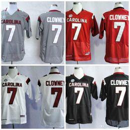 Men Custom NCAA South Carolina Gamecocks College Football  7 Jadeveon  Clowney SEC White Gray Black Red Stitched Jerseys 799c1edda