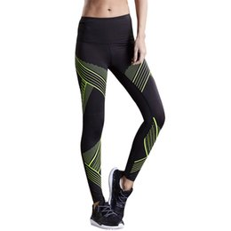 training tights women Canada - 2020 Striped Sport Leggings Women Running Tights Skinny Fitness Clothing Ladies Yoga Pants Compression Jogging Training Trousers