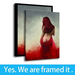 Art Canvas Prints Australia - Framed Canvas Wall Art HD Print Background Wall Art Characters The Red Illustration Painting - Hallway Decor - Ready To Hang