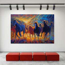 horse paintings wall art NZ - -.52-0021 Horse Animal Home Decor Handpainted &HD Print Oil Painting On Canvas Wall Art Canvas Pictures 200