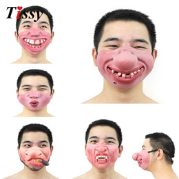 $enCountryForm.capitalKeyWord Australia - New!1PC Funny&Scary Of Half Face Clown Latex Masks For Cosplay Costume  Halloween Party Decoration Supplies