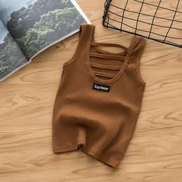 $enCountryForm.capitalKeyWord Australia - Casual Solid Baby Girls T Shirt 2019 Summer Baby Girls Sleeveless Undershirt for Teenager Kids Children 2-7 Years Vest Clothes