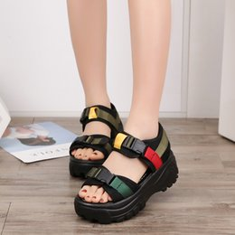 $enCountryForm.capitalKeyWord Australia - Magic2019 Sandals Motion Woman Baitao Muffin Thick-soled Shoes Leisure Time Spelling Color Hasp Women's Shoes