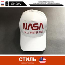 $enCountryForm.capitalKeyWord Australia - HERON PRESTON NASA HAT 3M Reflector Letter Baseball Cap High Quality VETEMENTS Tommy Men Women white Hat