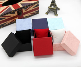 Wholesale Pillow Packs Australia - Watch Box Storage Case Jewelry Display Gifts Packing Fashion Watch boxes black red paper square watch case with pillow jewelry display box