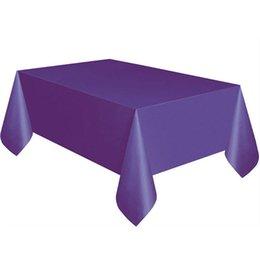 Katı Renk Tek Kullanımlık Masa Örtüsü Masa Örtüsü geçici Doğum Günü Partisi Düğün Tablecover Tedarik Beyaz Mavi Pembe # 919