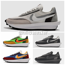 Sale baSketball ShoeS online shopping - 2019 Sale Sacai LDV Waffle Daybreak Trainers Mens Sneakers For Women fashion designer Breathe Tripe S Sports Running Shoes
