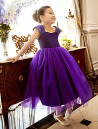 Tea Shirts For Girls Australia - Formal Tea Length Flower Girl Dresses Children Birthday Dress Lace Kids Wedding Party Dresses Short First Communion Dress For Dance