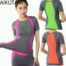 Design compression shorts online shopping - New Design Yoga Shirt Women Sport T Shirts Fitness Quick Dry Running Short Sleeve Gym Workout Yoga Top Compression Tights M L XL