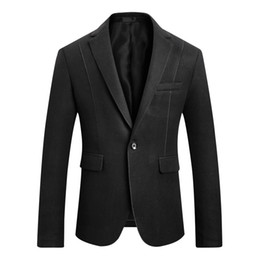 Wholesale korean fashion blazers resale online - Men Suit Fashion Business Casual Slim Fit Hairy Mens Blazer Korean Version Slim Suit Mens Wedding Suits Male Jacket Large Size M XL