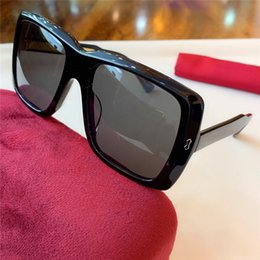 vintage style eyewear UK - 2020 New fashion popular sunglasses 0366 square frame sunglasses or optics glasses top quality simple style danb protection eyewear with box