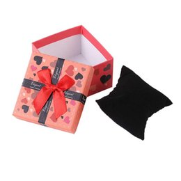$enCountryForm.capitalKeyWord UK - Fashion Watch Box Red Durable Present Gift Colorful Bowknot Carton Innovative Gift Packaging Box Jewelry Ring