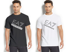 Banner sizes print online shopping - New EA7003 Banner Brand Top Logo popular Design T shirt Adult Size Tee Unisex