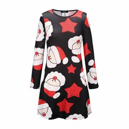 Cheap Girls Vintage Dresses Australia - 2019 Vintage Christmas Cute Fashion Women Mini Dresses Cartoon Animal Print Girls Cheap Party Sweet Winter Female Short Dress