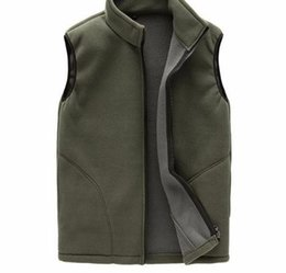 34d7d8d4d3d 2019 Winter Fleece Male Thick Warm Waistcoat Outwear Casual Thermal Soft  Vests Mens Windproof Sleeveless Jacket