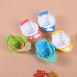 Ciotola di alimentazione del bambino Cibo Frese Frese Piatti Strumenti di macinazione Neonato Fatti a mano con cibo per neonati C6017 in Offerta
