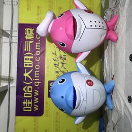 Inflável azul golfinho traje com marinha cap golfinho traje da mascote do partido cosplay jogo adultos roupas tamanho
