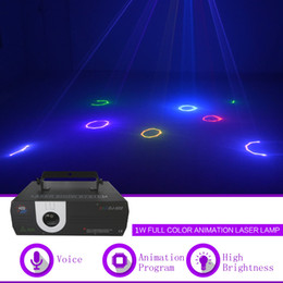 laser clubbing light Australia - 1W RGB Animation DMX ILDA Laser Projector Light Home Club Gig Party Show Professional Stage Effect DJ Lighting DJ-502