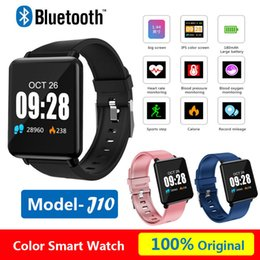 Dial Box NZ - 1.44'' Color Smart Watch J10 Sport Pedometer Blood Pressure Waterproof for IOS Android With Retail Box