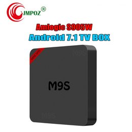 Hd Tv Movies Australia - New M9S Mini S905w Smart Android 7.1 TV box Quad core Streaming Media Player IPTV Boxes Movie Better RK3328 S905X2 S912