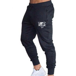 mens tracksuits bottoms Australia - Mens Joggers pencil Pants Fitness Men Tracksuit Bottoms Skinny Sweatpants fashion men Trousers Black Gyms Jogger Track Pants