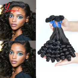 Funmi Hair Australia - Brazilian 100% Human Hair Candy Curly Funmi Hair Weave Bundles 3 Pieces 8-28 Inches Unprocessed Natural Color Machine Double Weft
