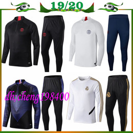 Panting kit online shopping - top PSG tracksuit Paris MBAPPE psg long sleeve Real Madrid training suit Football jacket train pants kit uniform chandal