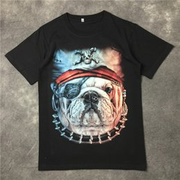 Trends Clothing Australia - 2019 latest Pirate Dog Head Printing European and American style Summer clothes Short sleeved Fashion Trend JOKER T-SHIRTS TOPS