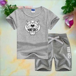 $enCountryForm.capitalKeyWord Australia - KNZO Brand Designer Tiger Little Kids Sets 1-7T Kids T-shirt Short Pants 2Pcs sets Baby Boys Girls 95% Cotton Tiger