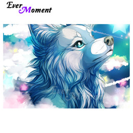 painting clouds Australia - wholesale Diamond Painting 5D DIY Wolf Cloud Decor Handmade Picture Of Rhinestone Full Square Drill Diamond Embroidery S2F2353