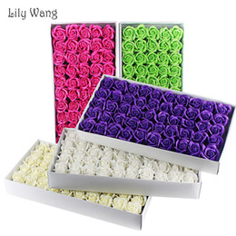 flowers for Canada - 50pcs set High Quality Artificial Flowers For Wedding Soap Flower Artificial Rose Diy Fake Flowers Home Decor Accessories T8190626