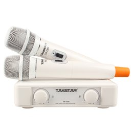 $enCountryForm.capitalKeyWord Australia - Takstar TS-7220 white color UHF 2-channel wireless handheld microphone,use for campus meeting,entertainment,speech,karaoke