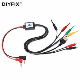 repair iphone power Australia - DIYFIX Power Data Cable DC Power Supply Current Test Wire Cable with USB Output for iPhone Samsung Mobile Phone Repair Tools