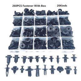 car fasteners 2019 - Interior Accessories Auto Fastener Clip 260PCS Universal Mixed Car Bumper Fender Screw Plastic Fastener Clip With Box Se