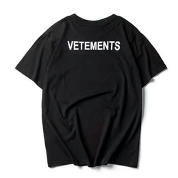 Chinese  2017 NEW TOP SS16 Summer vetements letter print men Black White short sleeve t shirt hiphop STAFF Fashion Casual Cotton tee S-XL manufacturers