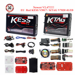 Ecu Programmer Kit Australia - HOT!! V2.47 Red EU Kess V5.017 Ktag V7.020 LED BDM Frame V2 OBD2 Manager Tuning Kit 5.017 K-Tag 7.020 4 ECU Programmer