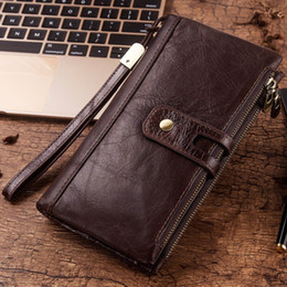 $enCountryForm.capitalKeyWord NZ - New Genuine Leather Men Wallet Male Cell Phone Clutch Coin Purse Walet Portomonee Portfolio Clamp For Money Bag Handy Long