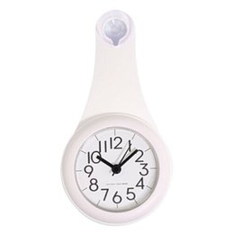 Wholesale Wall Clock Kitchen Bathroom Waterproof Clock Mute Shower with Suction Cup HUG Deals