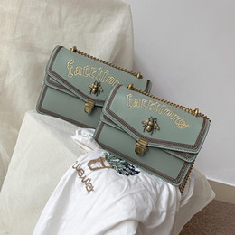package bees NZ - Woman Luxury Bag 2019 Messenger Woman Package Embroidery Small Ck Thailand Bees Package Temperament Goddess Exceed Fire Handbags