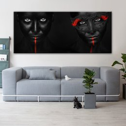 Pictures Oil African Australia - 1 Pcs African Makeup Girl Wall Posters And Prints Modern Pop Art Canvas Prints Home Decorative Canvas Pictures For Living Room No Frame