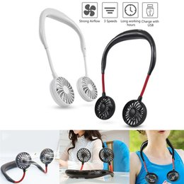 $enCountryForm.capitalKeyWord Australia - Neckband Fan 3 Speed 4 Colors Dual Wind Head Portable USB Rechargeable Air Cooler Outdoor Hands-Free Wearable Conditioner For Working Sports