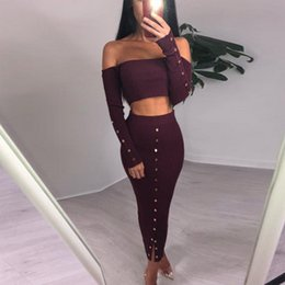 White Character Skirt Australia - Leisure Fashion Spring and Summer Two-piece Skirt with One-character Shoulder and Liuting Pit in Europe and America hot selling overskirt