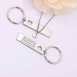 $enCountryForm.capitalKeyWord Australia - Couples Jewelry Gift for Him Necklace Keychain Suit Accessories Hand Stamped Husband Wife Pendant Present Chain Gift Souvenir