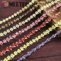 Lace neckLace diy online shopping - Meetee mm Width Embroidered Lace Trim Water Soluble Ribbon Flower for Clothing Hair Necklace Handmade DIY Accessory RC210