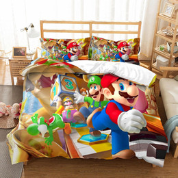 $enCountryForm.capitalKeyWord NZ - Thumbedding Cartoon Bedding Sets Kids Mario Image Duvet Cover Set 3D Game Play Single Double Queen King Twin Full Quality Bed Cover 3pcs