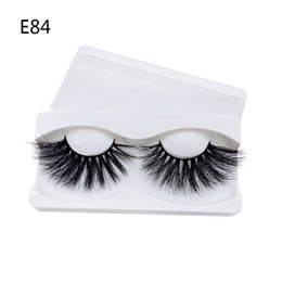 super long eyelashes NZ - 25mm Mink eyelashes super long thick fake lashes curly crisscross eyelash extensions real mink fur hair makeup accessories drop shipping
